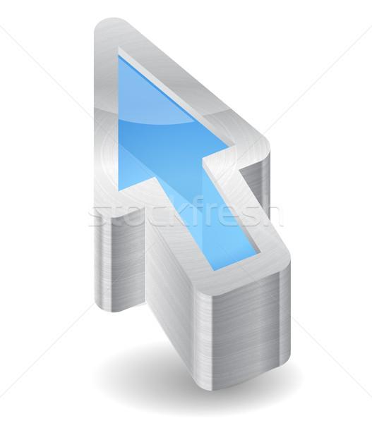 Ikon kurzor fehér terv grafikus tárgy Stock fotó © ildogesto