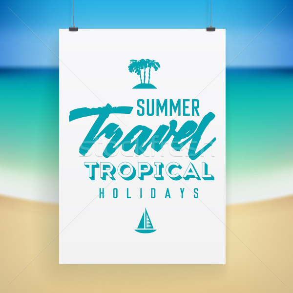 Summer holiday poster design Stock photo © ildogesto