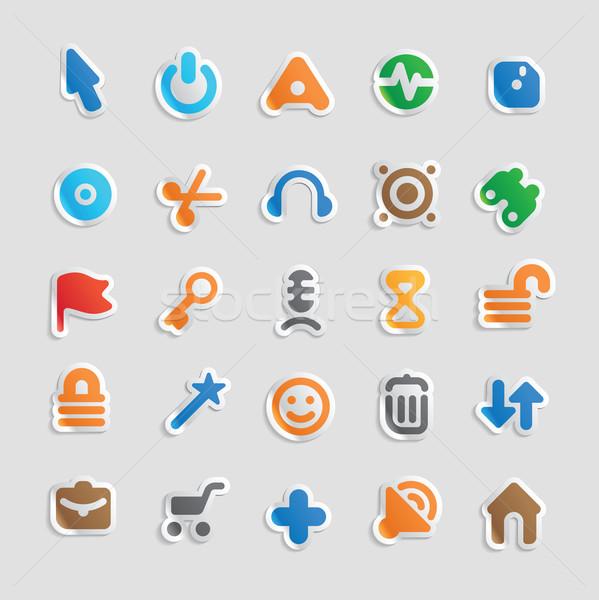 Sticker icons for interface Stock photo © ildogesto