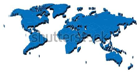 3D carte carte du monde monde pays Photo stock © ildogesto