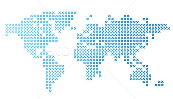 Dotted world map vector illustration ildogesto 3028950 stockfresh stock photo stock vector illustration dotted world map vector illustration gumiabroncs Choice Image