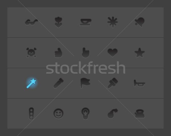 Miscellaneous interface icons Stock photo © ildogesto
