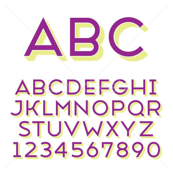 Handmade sans-serif font Stock photo © ildogesto