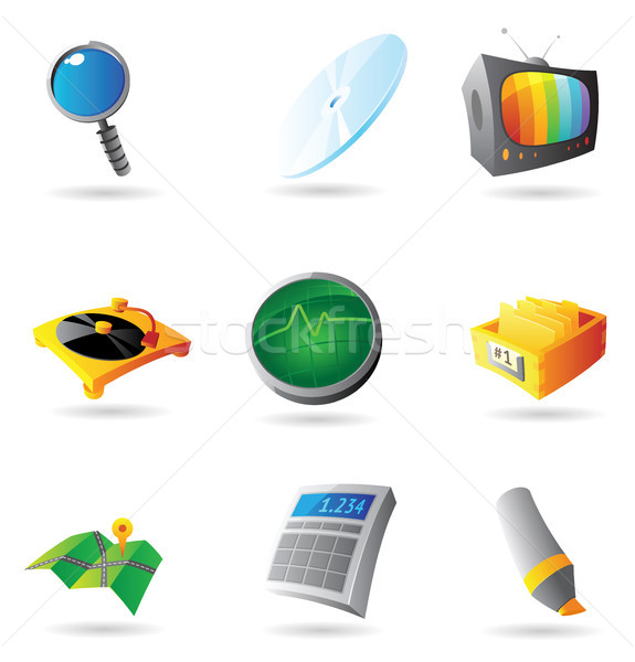 Stock photo: Icons for interface