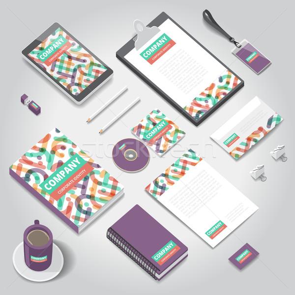 Corporativo identidade imprimir modelo artigos de papelaria objetos Foto stock © ildogesto