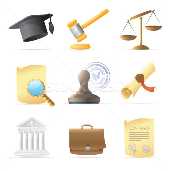 Icons for law Stock photo © ildogesto