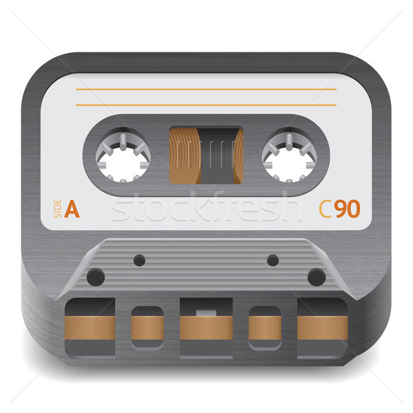 Icon for audio cassette Stock photo © ildogesto