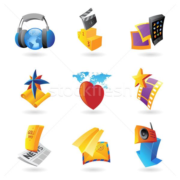 Icons for media Stock photo © ildogesto