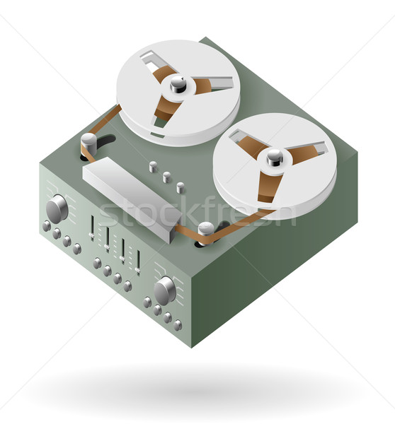 Bande technologie sonores vintage audio Photo stock © ildogesto