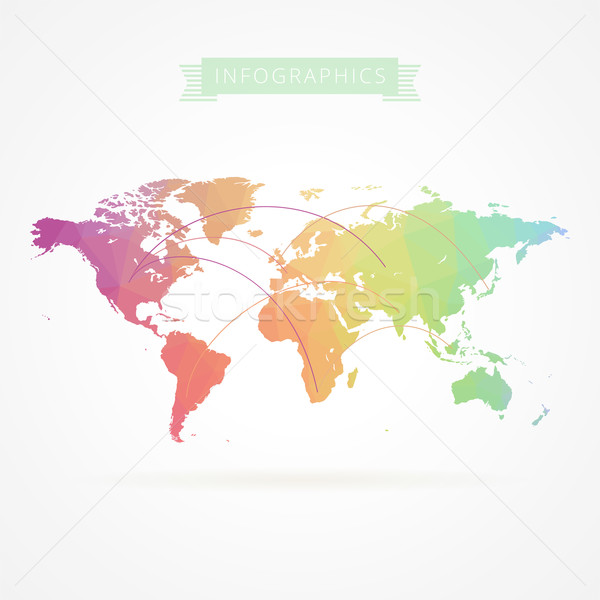 World map with infographics elements Stock photo © ildogesto