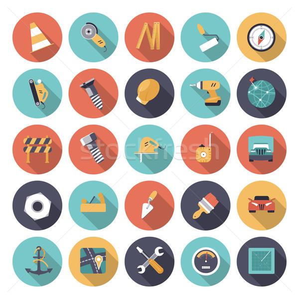 Ontwerp iconen industriële vector eps10 doorzichtigheid Stockfoto © ildogesto