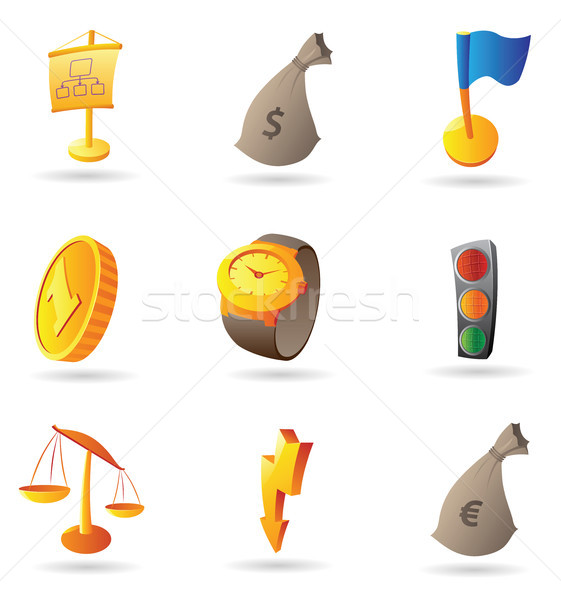 Icons for business and finance Stock photo © ildogesto