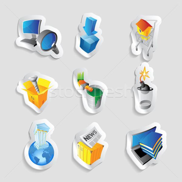 Icons for industry Stock photo © ildogesto