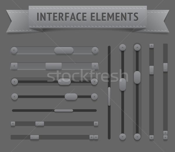 пользователь интерфейс Элементы вектора eps10 файла Сток-фото © ildogesto