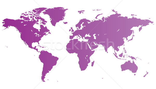 Violette carte du monde élevé qualité carte monde Photo stock © ildogesto