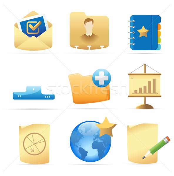 Icons for business metaphor Stock photo © ildogesto