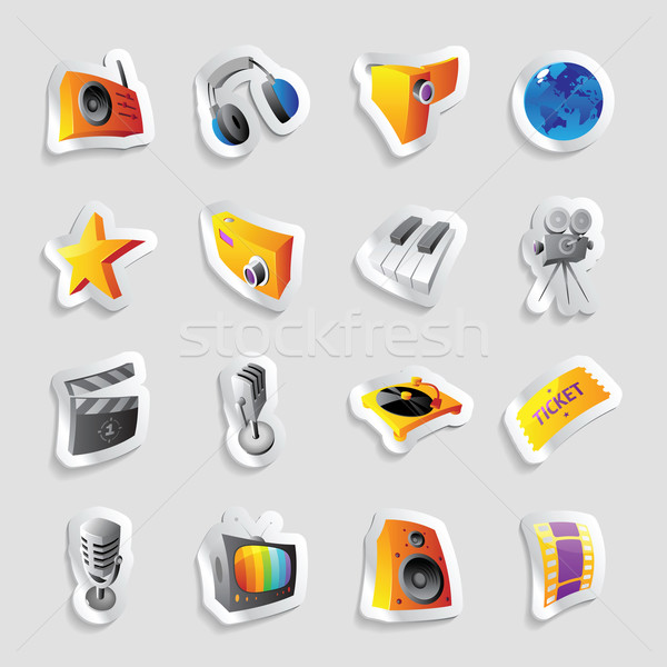 Stock photo: Icons for media and music