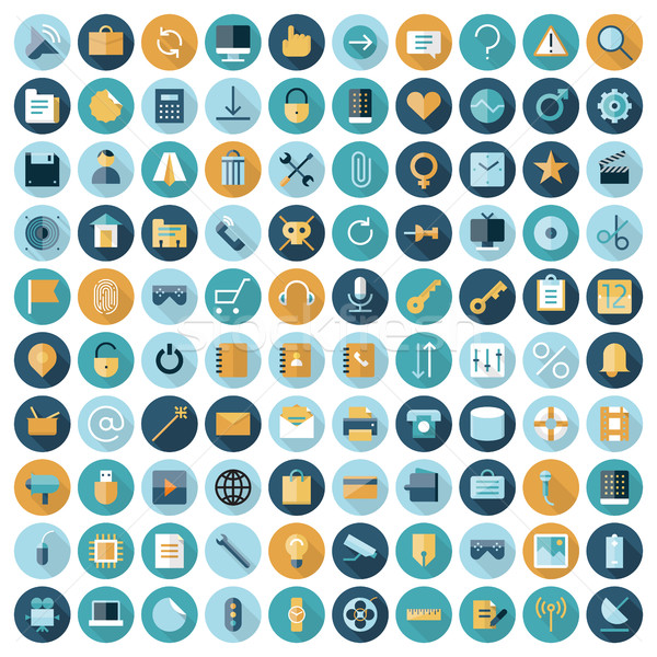 Flat design icons for user interface Stock photo © ildogesto