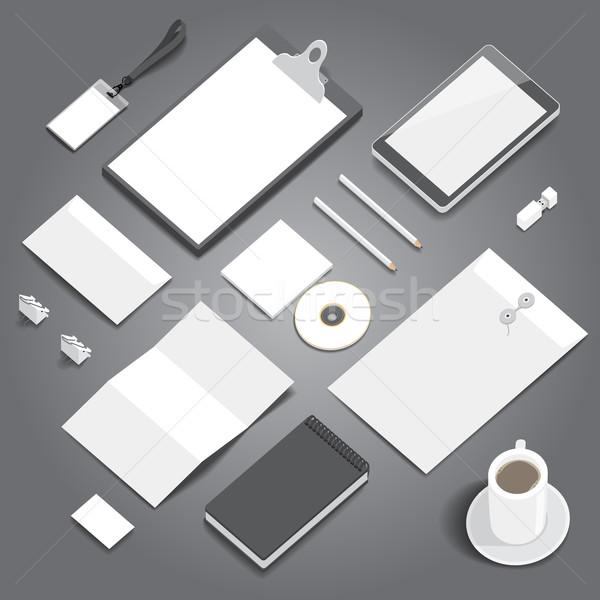 Corporate identity stationery mockup Stock photo © ildogesto