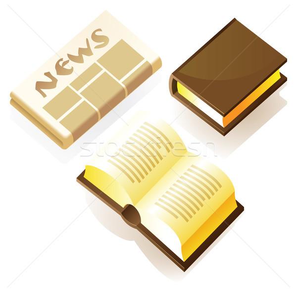 изометрический икона напечатанный СМИ книгах газета Сток-фото © ildogesto