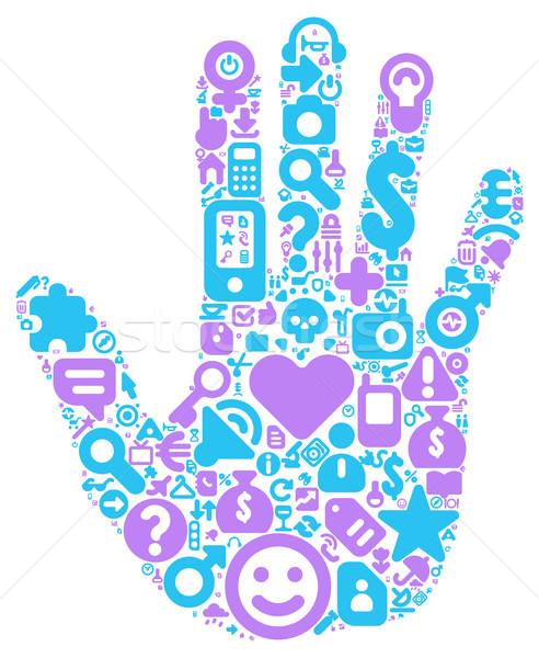 Concept of human hand Stock photo © ildogesto