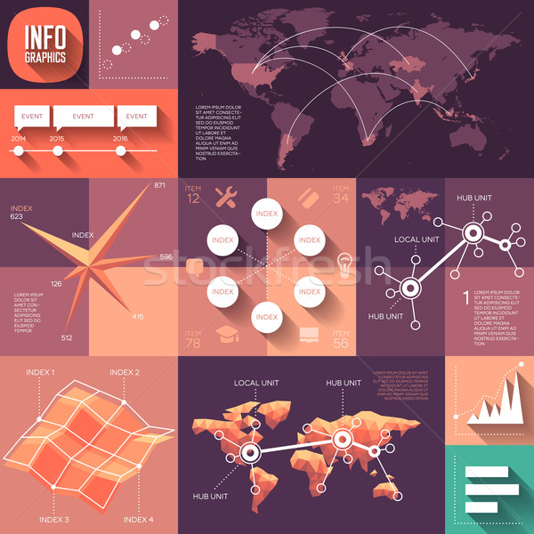 Photo stock: Infographie · design · longtemps · ombres · eps10