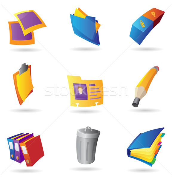 Icons for office Stock photo © ildogesto
