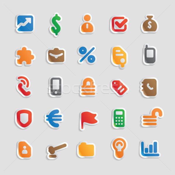 Sticker icons for business Stock photo © ildogesto