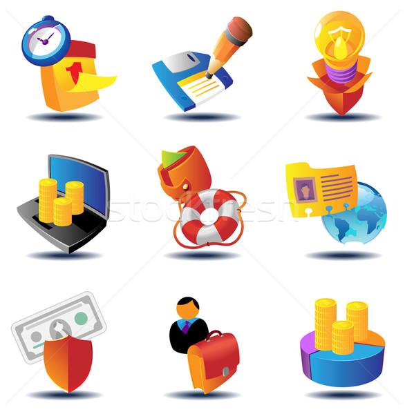 Negócio conceitos metáfora ícones homem projeto Foto stock © ildogesto