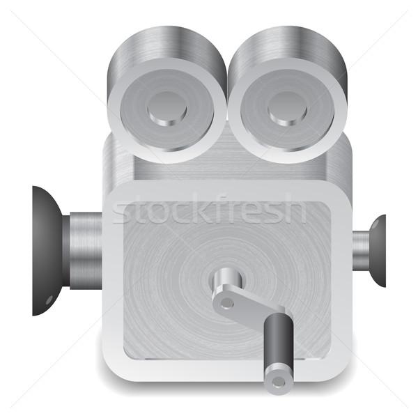 Ikon film tekercs fehér textúra technológia Stock fotó © ildogesto