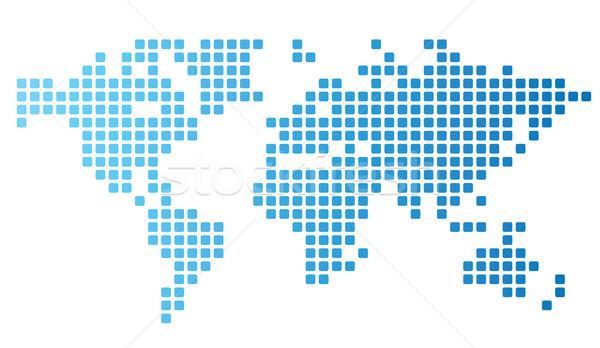 пунктирный Мир карта карта Мир синий фоны Сток-фото © ildogesto
