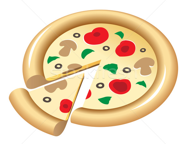 pizza Stock photo © ildogesto