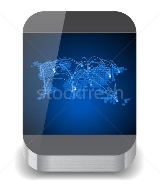 Icon for smartphone Stock photo © ildogesto