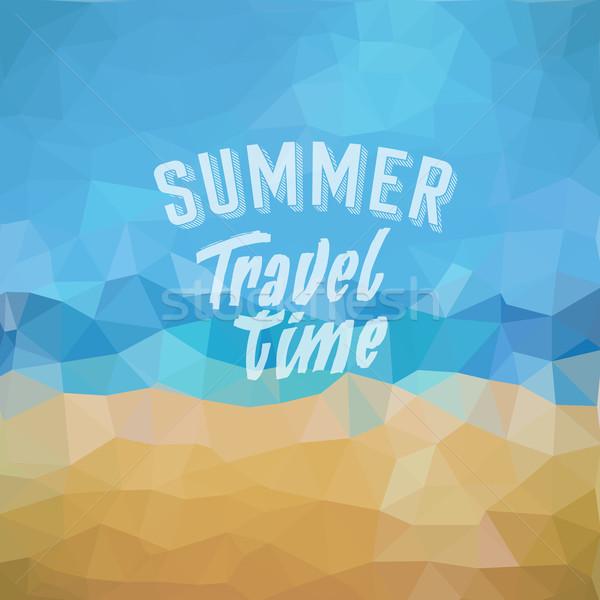 Férias de verão praia tropical verão viajar tempo cartaz Foto stock © ildogesto