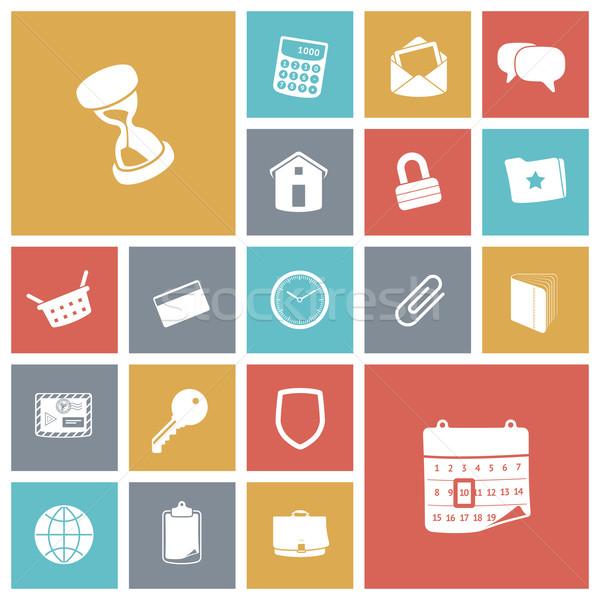 Diseno iconos usuario interfaz casa calendario Foto stock © ildogesto