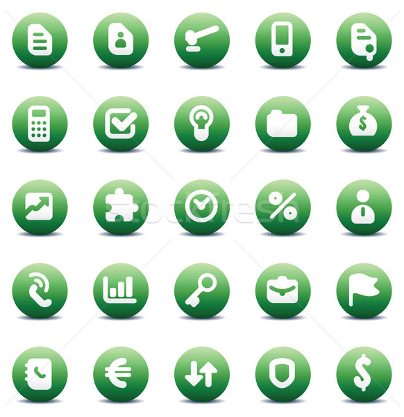 icons for business metaphors Stock photo © ildogesto