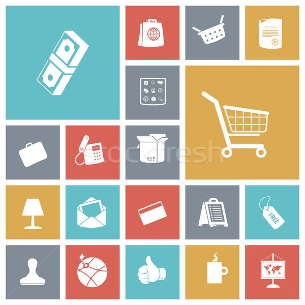 Zdjęcia stock: Projektu · ikona · działalności · finansów · strony · świat