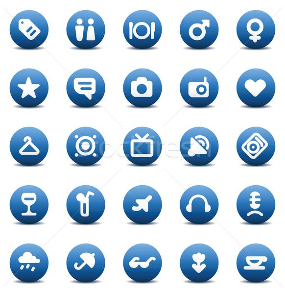 icons for travel and leisure Stock photo © ildogesto