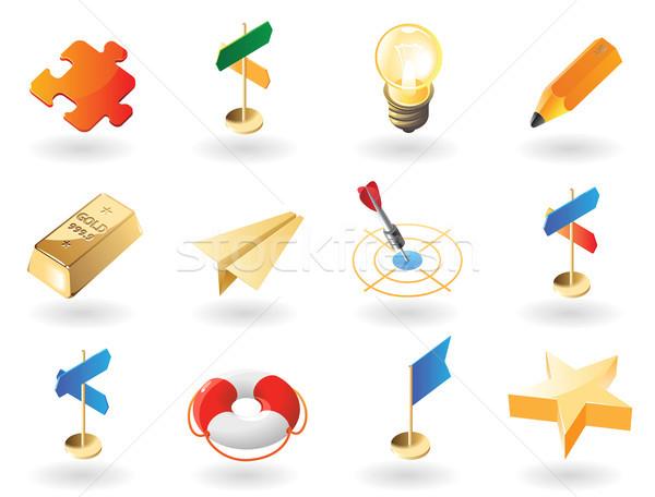 Foto stock: ícones · criador · negócio · alto · detalhado · realista