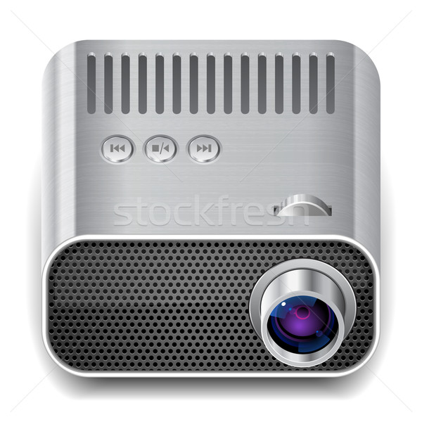 Ikon projektör beyaz doku film grafik Stok fotoğraf © ildogesto