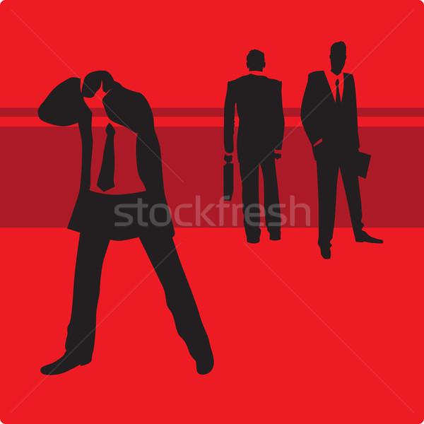üzletember gond szomorú üzlet absztrakt férfiak Stock fotó © ildogesto