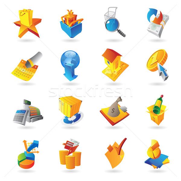 Ikona detalicznej commerce wina pracy świat Zdjęcia stock © ildogesto