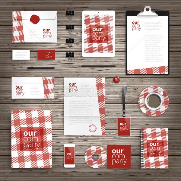 Corporate identity print template Stock photo © ildogesto