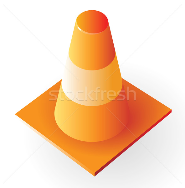 Isometric icon of traffic cone Stock photo © ildogesto