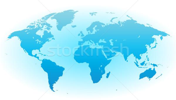 World map with blue background Stock photo © ildogesto
