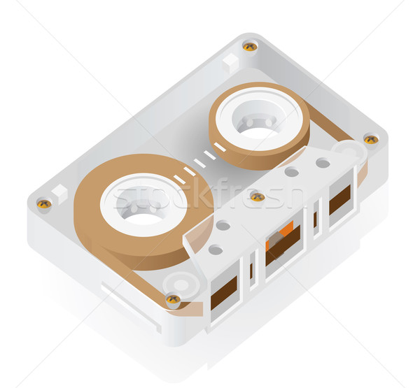 Isometric icon of cassette Stock photo © ildogesto