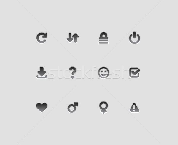 Interface icons for signs Stock photo © ildogesto