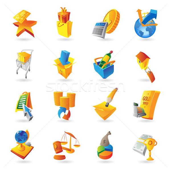 Icons for retail commerce Stock photo © ildogesto