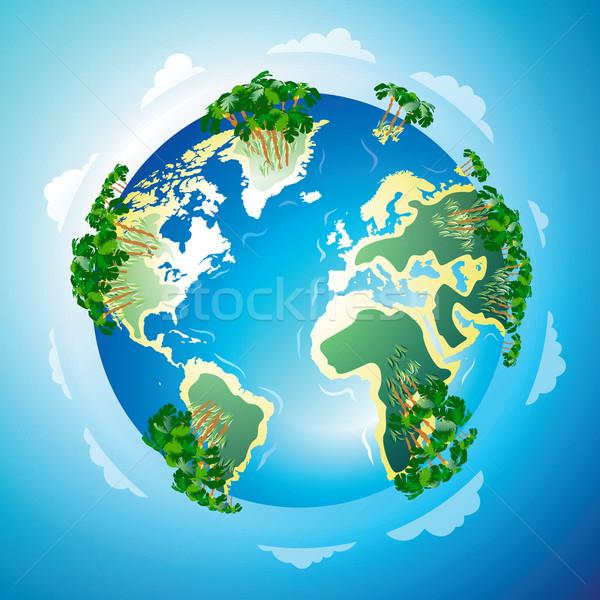 Világszerte üdülőhely tengerpart trópusi égbolt világ Stock fotó © ildogesto