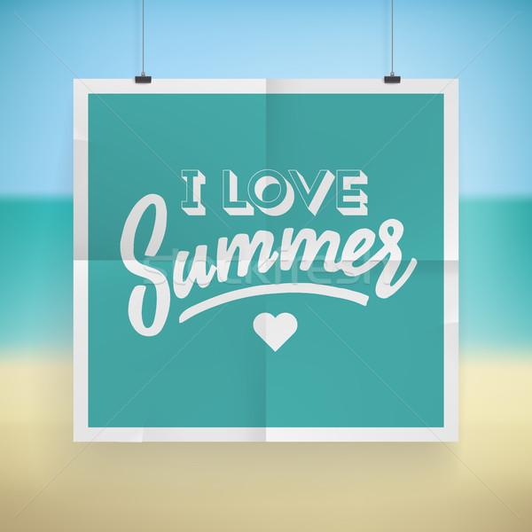 Summer holiday poster design Stock photo © ildogesto